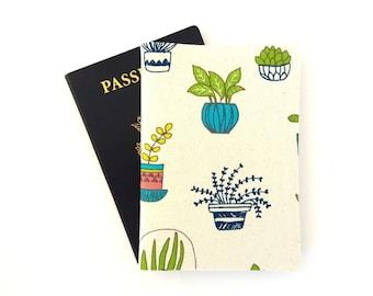 Nature lover passport cover, Plant passport holder, Botanical passport wallet, Gardener gift, Travel accessories for women, Travel gifts
