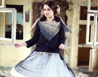 hand knit shawl - womens gift - spring gift - womens shawl - spring shawl - lightweight shawl - birthday gift for her - soft shawl