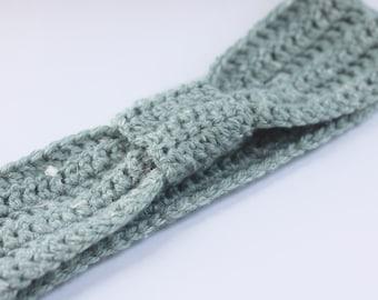 Teal Turban Crocheted Headband - Turban Headband - Crocheted Headband - Womens Headband - Winter Headband - Knit Headband - Knot headband