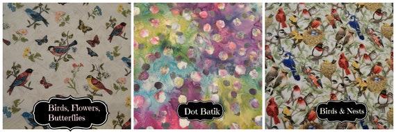Stamparatus Portfolio Case  with Pocket Flap Cover Birds Butterflies Flowers Batik Your Choice Velcro Enclosure