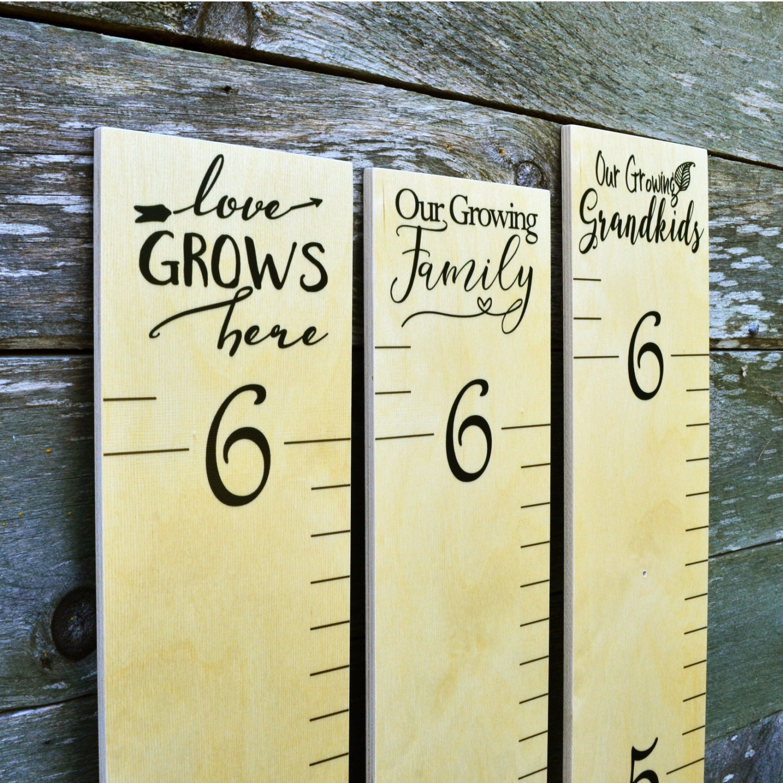 Wooden ruler growth chart kids wood height chart wall zoom nvjuhfo Choice Image