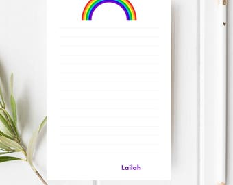 Kids Personalized Stationery | Girls Personalized Stationery | Rainbow Stationery | Kids Letter Writing Set | Penpal Set | Kids Stationery