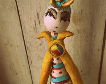 """Sculpture, art doll and collection """"Etania"""" unique H: 24cm"""