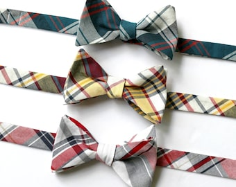 Bow Tie~Mens Self Tie Bow Tie~Mens PreTied~Anniversary Gift~Cotton Bow Tie~Wedding Bow Tie~Plaid Bow Tie~ Mens Bow Tie~Wedding Tie~Classic