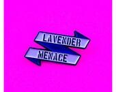 LAVENDER MENACE LGBT Pin ...