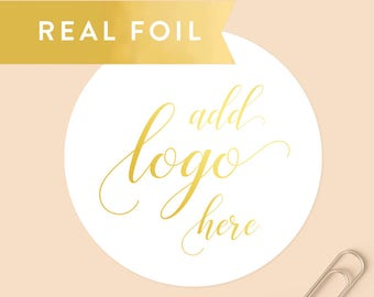 Custom Foil Stickers, Custom Logo Stickers, Gold Foil Logo, Round Stickers, Personalized Stickers, Product Labels, Silver Foil Logo
