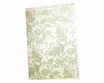Blue Glittered Floral Junk Journal - Traveler's Notebook - Handmade Journal - Blank Book - Stitched Scrapbook - Demask - Flower Garden