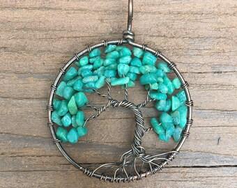 Amazonite Tree of Life pendant