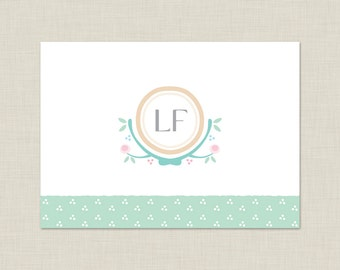 Personalized Stationery Set / Personalized Stationary Set / Swiss Dots Note Cards