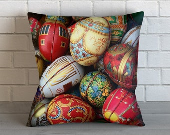 Colorful Eggs  Pillow