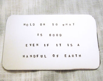 Custom Wallet Insert Card - Aluminum Wallet Card - Personalized Message or Quote