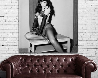 48 Poster Mural Bettie Page Pinup Model Print