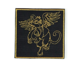 Embroidered Flying Monkey Patch Iron On Applique Oz