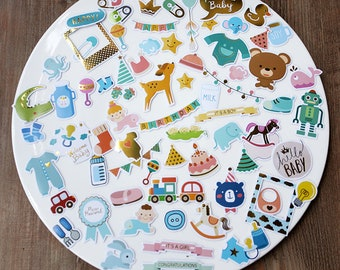 73pcs/pack cute baby themed Stickers Pack~ bojo sticker, journal, embellishments die cut stickers