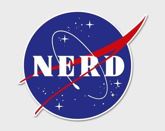 """NASA Nerd 4"""" - Bumper Sticker Decal"""