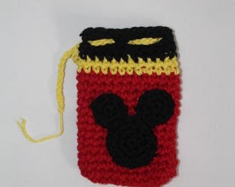 Mickey Mouse Crochet Pouch