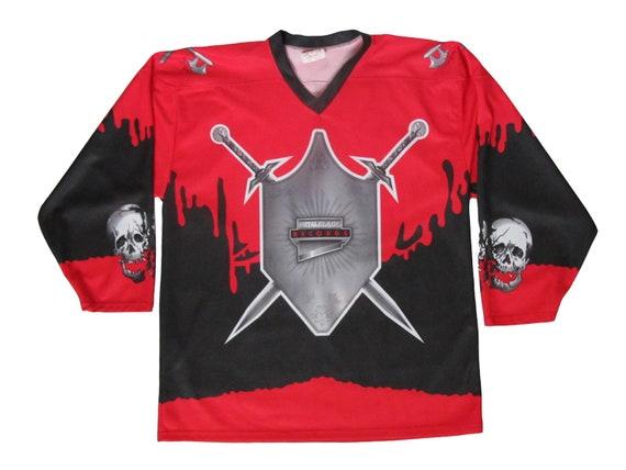 Metal Blade Records Sword Skull & Blood Hockey Jersey