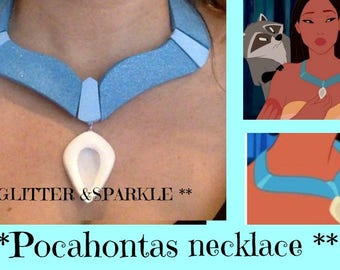 Disney inspired Deluxe Pocahontas necklace | glitter ,Sparkle *** ADULT ***