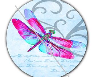 pretty cabochon 25mm, blue dragonfly