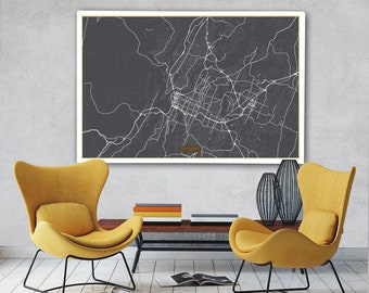 Chattanooga map Etsy
