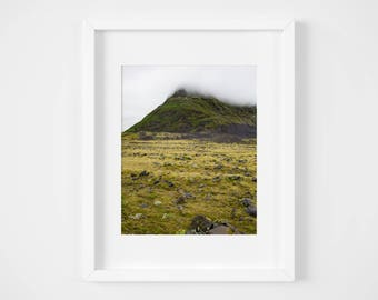 Iceland mountain landscape print - Nature photo - Fine art photography - Large wall art - Travel photography - Icelandic poster prints