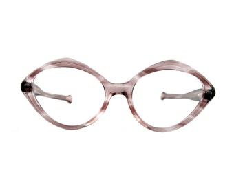 the idelle ... 1960s translucent purple tortoiseshell eyeglass frames