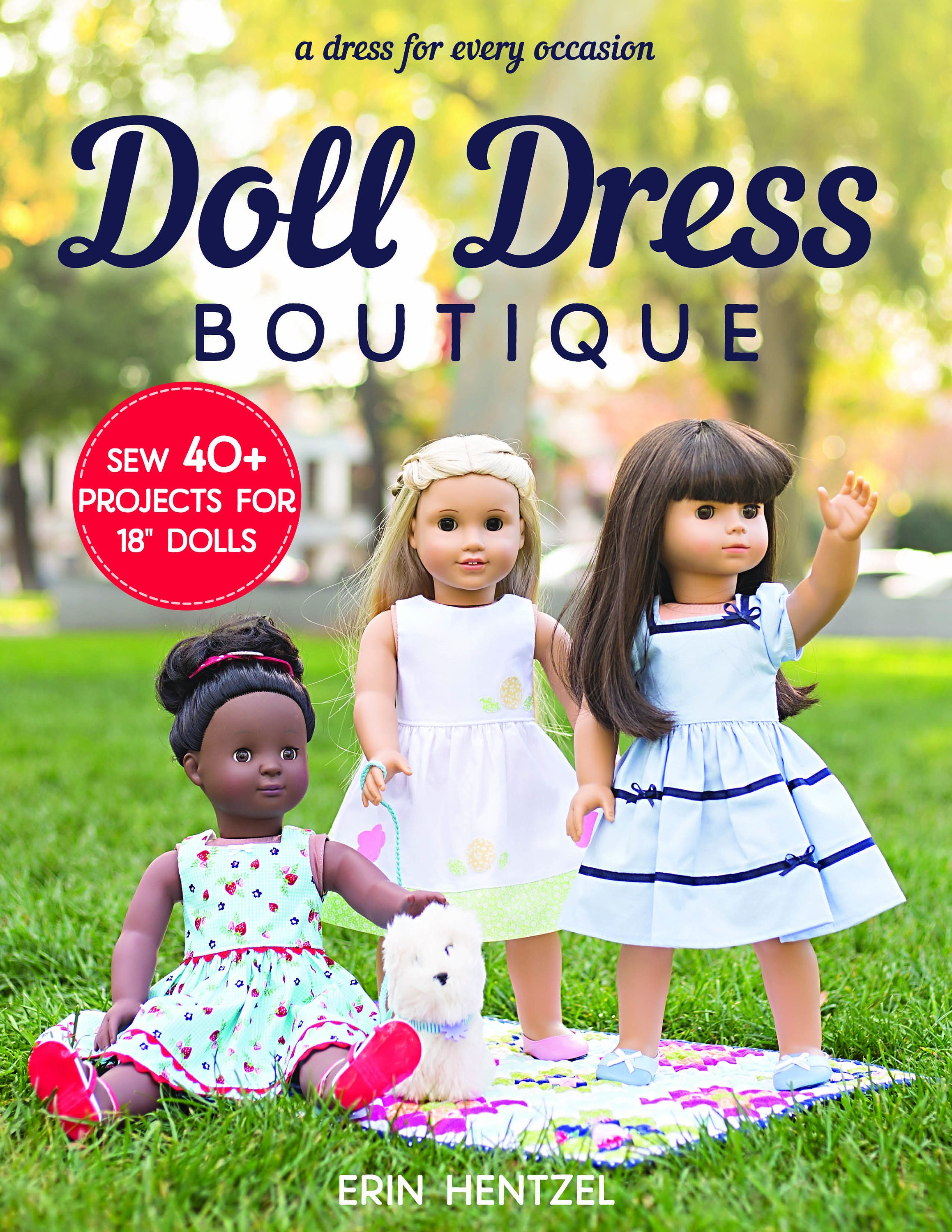 Pre order doll dress boutique sew 40 projects sewing pattern zoom jeuxipadfo Image collections