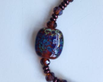 Czech Beaded Necklace with Glass Accent Bead