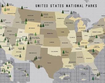 USA National Parks Map