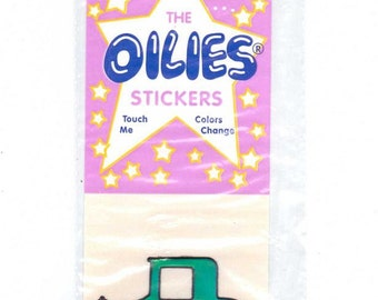 Vintage Car Oilies Sticker Vintage 80's MOC color changing oily NIP Liquid Crystal Oilies