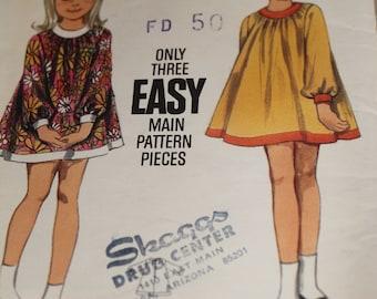 Butterick vintage kids sewing pattern 4462 size 6