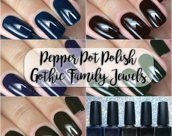 Nail Polish Collection Gothic Family Jewels Bath And Beauty Gifts Under 50 Gift For Her Pepper Pot Polish