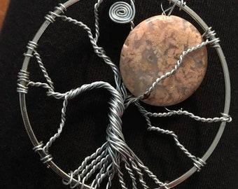 Mystic Harvest Moon Tree of Life Pendant