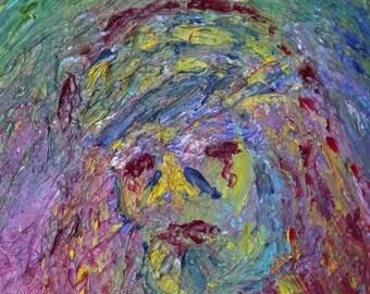 Original Oil Painting Spiritual Art Red Tear by Nicola Graham