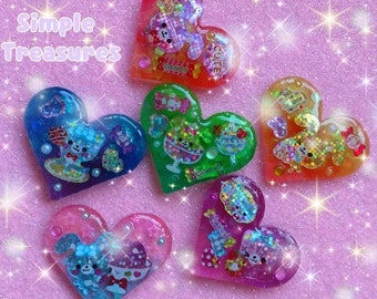 Glittery Sweet Resin Ring/Badge