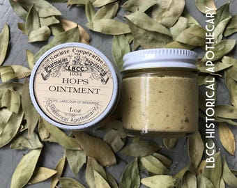 1934 - Hops Ointment - Keep Skin Young- Fight Free Radicals Give Skin Youthful Glow and Heal Eczema Fight Wrinkles Vintage Salve Hops Salve