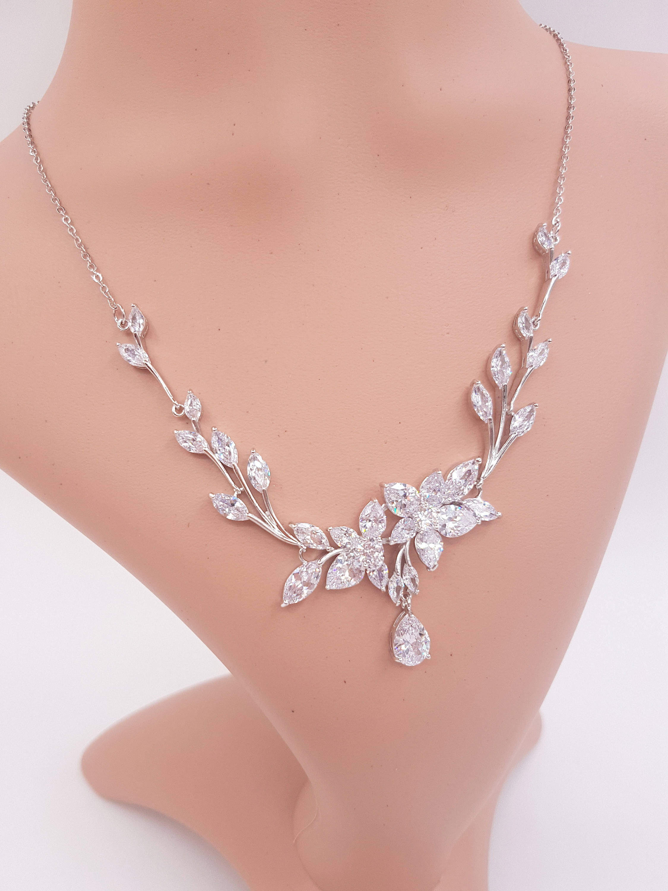 Wedding Jewelry For Brides. Dainty Bridesmaid Jewelry Set Rose Gold ...