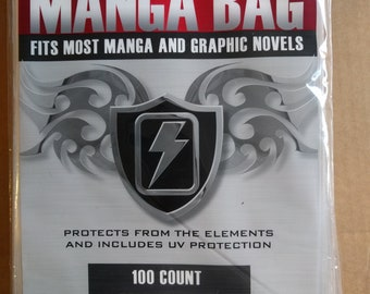 Max Protection Brand 100 Count Resealable Manga Bags