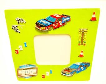 Race cars frame, Boys room gift, vroom, tucks, racing, boys room, car picture frame, boy frame, kids frame, playroom frame, kids decor