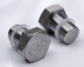 00g Bolt Spacers / Plugs - body jewelry for stretched ears