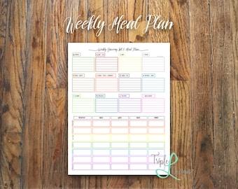 Weekly Meal Plan {Multicolor}