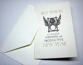 Letterpress New Years Cards - packs of 10 w/envelopes