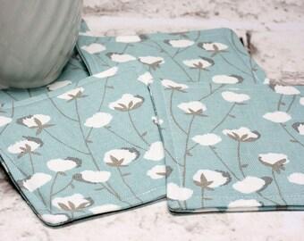 Cotton Print Coasters, Set of 4