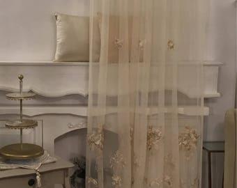 Precious antique tent Rose and Volute