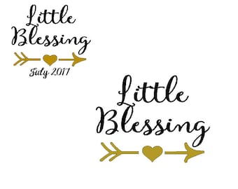 Little blessing iron on decal