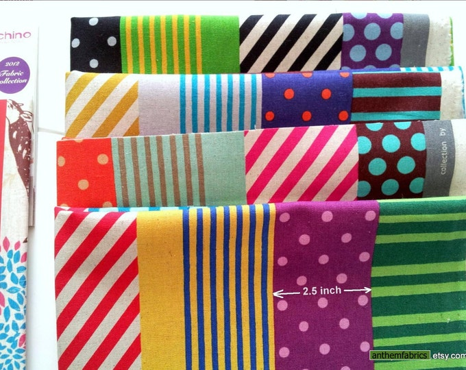 ECHINO-NICO by Etsuko Furuya - Kika Stripes EF603, 1 yard - choose a color