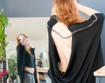 Oversize extravagant Halter tunic, model Roni