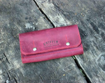 Burgundy wallet Burgundy leather Burgundy purse Long wallet Large wallet Ladies wallet Women leather wallet Big wallet Classic wallet