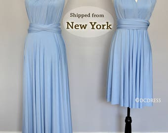Pre-Order Baby Blue Bridesmaid Dress Ready to ship starting from 15 May no rush Available Baby Blue infinity, Sky Blue One shoulder infinity