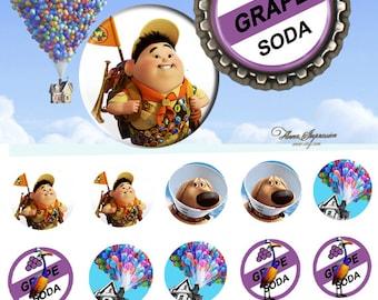 Disney Up  25mm - 4x6 Bottle Cap Images Digital Collage INSTANT DOWNLOAD